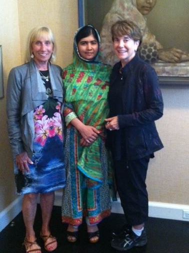 WCI's President and staff with Malala Yousafzai of the Malala Fund