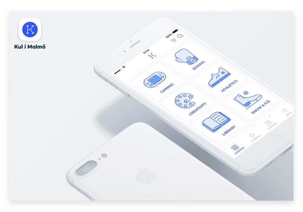 Kul i Malmö App - Rebranding, UI & UX redesign of the event finder app