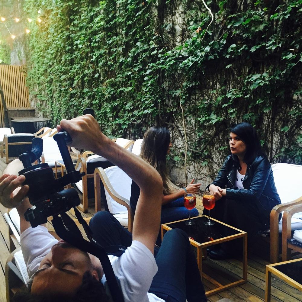 Filmando para Aperol