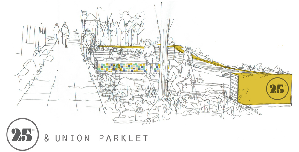 Sketch of the parklet.