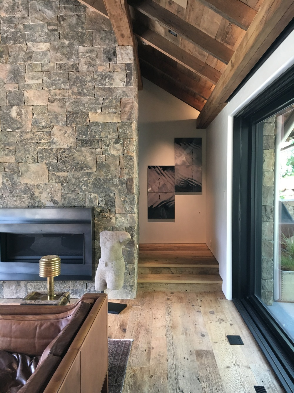 Installed at a private collector's home in Aspen, Colorado