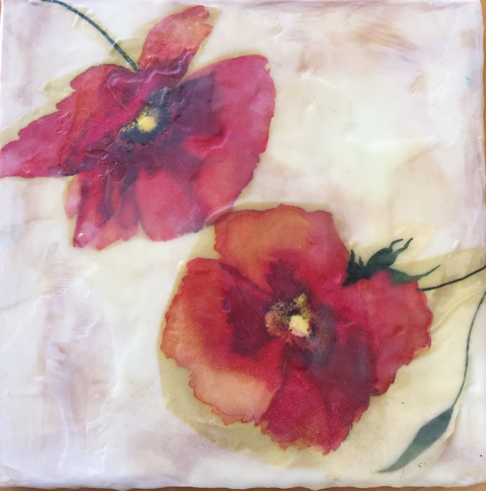 Encaustic Flower