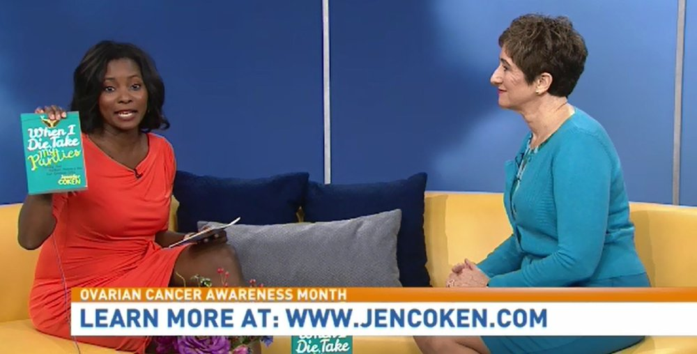 "Watch ABC7's Good Morning Washington Highlight ""Ovarian Cancer Awareness Month"" with Jen Coken."