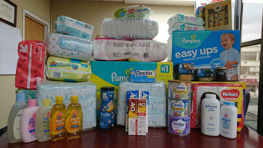 Diaper drive; Students of TLE at Cedar Grove, May 2018