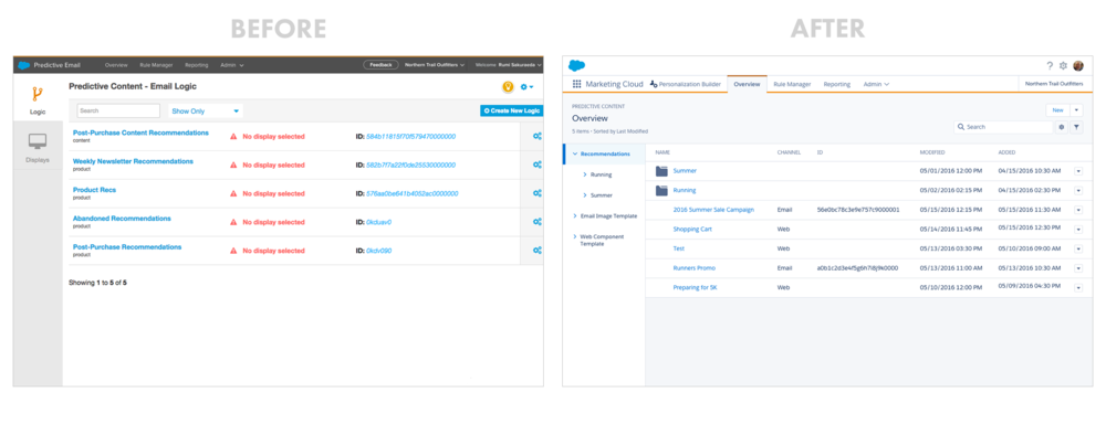Overview  - Before Predictive Email and Predictive Web were two separate products.From user feedback, we combined them into one product.