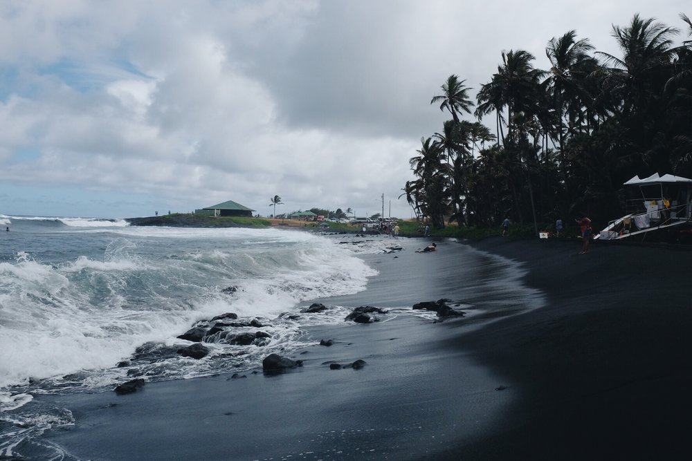 Punalu'u Black Sand Beach