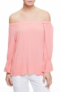 Charlotte Off-Shoulder Top in Strawberry