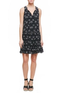 Romy Print Flounce Hem Shift Dress