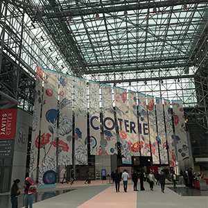 The massive Javits Convention Center, where the buying market in NYC is held, is a daunting space! Many hours are spent up and down levels from booth, to booth, viewing apparel and accessories...