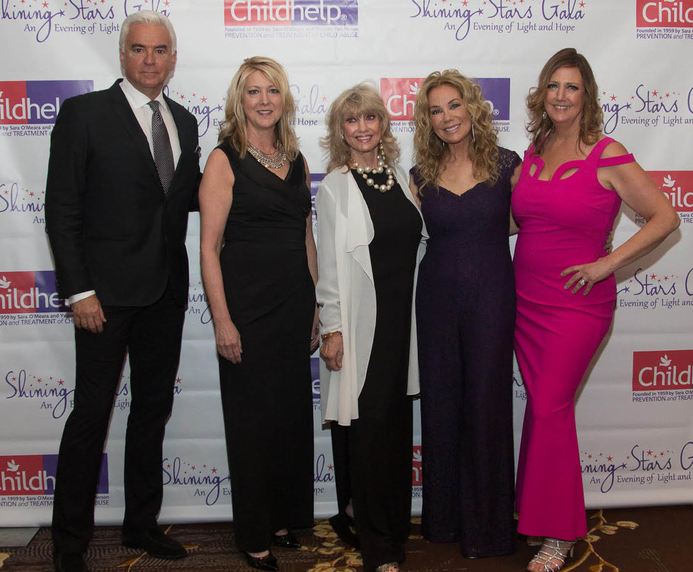 From left:  John O'Hurley, Suzanne Runyon, Joy Runyon, Kathie Lee Gifford, and Nina Doherty