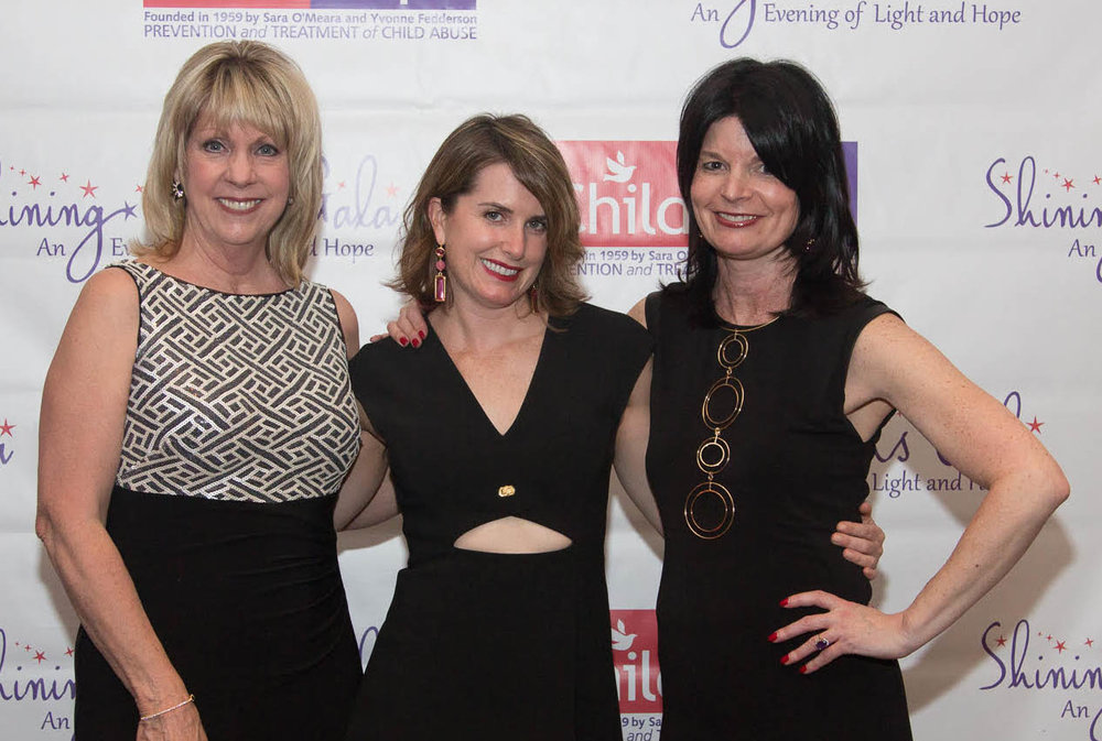 From left: Wendy Liebl, Jamie Meidhof, and Trish McHugh wearing her Jenny Bird necklace!