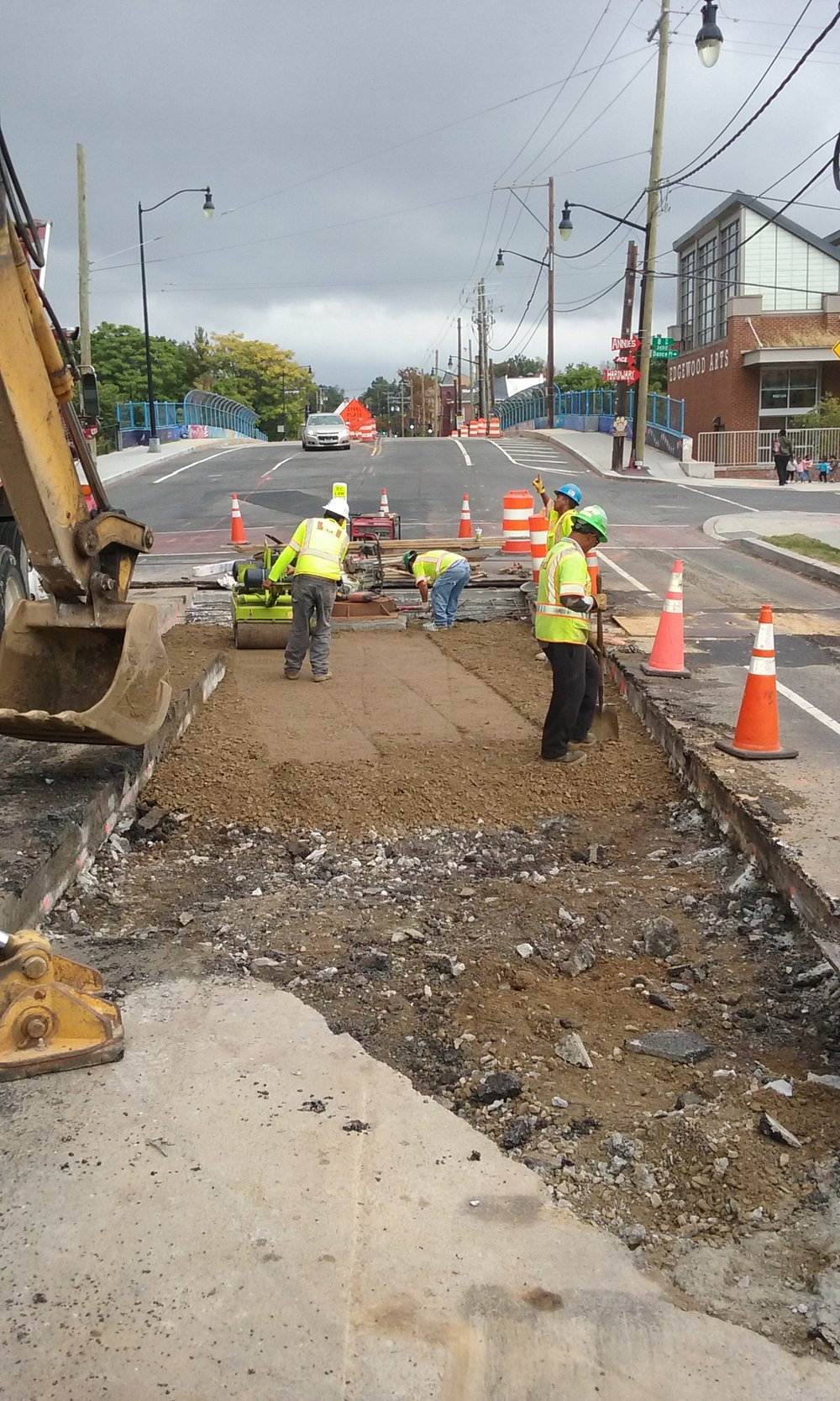 Utility cuts backfill and compaction – 8th & Monroe