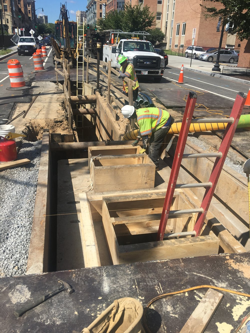 Trenching work at the intersection of 8th & Monroe