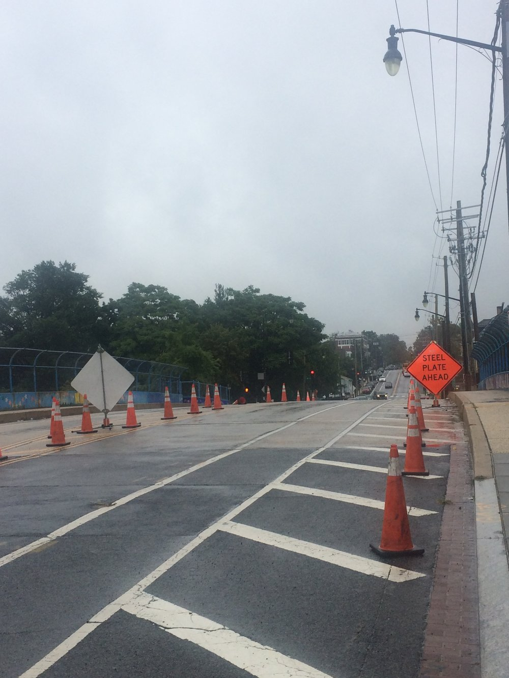 Maintenance of Traffic set on Monroe Street Bridge