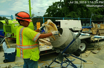 Concrete  Mixing for Repair Work