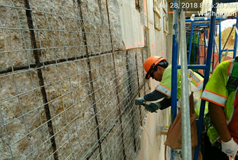 Abutment Concrete Repair Preparation