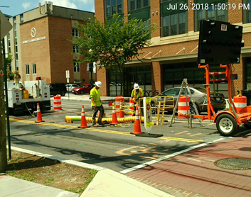 PEPCO Work at Monroe & 8th