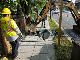 Utility MH Installation on 8th Street