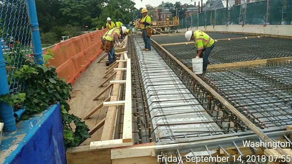 Deck Rebar Installation (North Side)