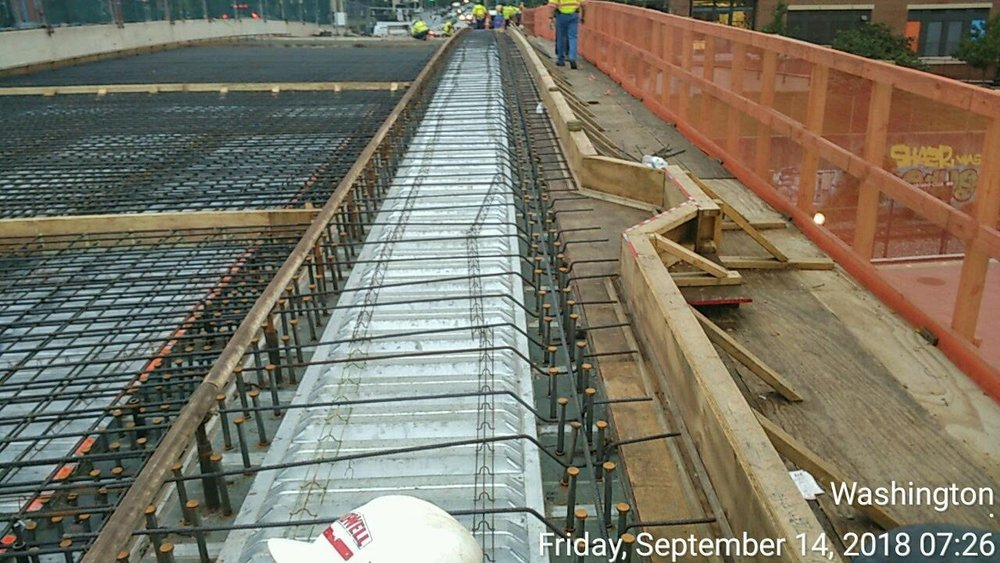 Rebar Installation and Cleaning for the Deck
