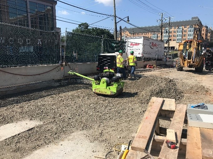 West Approach Utility Trench Backfilling (North Side)