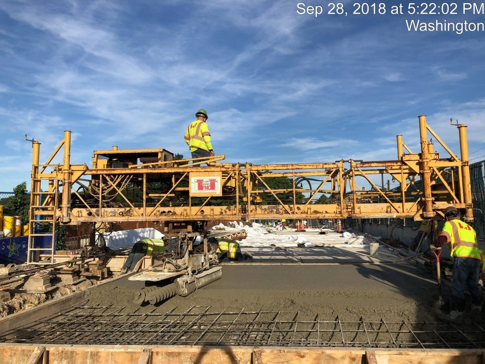 Concrete Placed-East Approach
