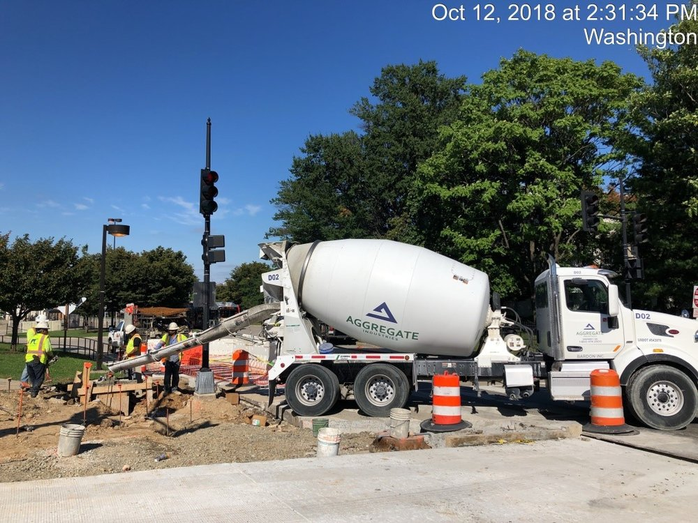 Traffic Signal Pole Foundation Installation (NW Corner of 9th Street)