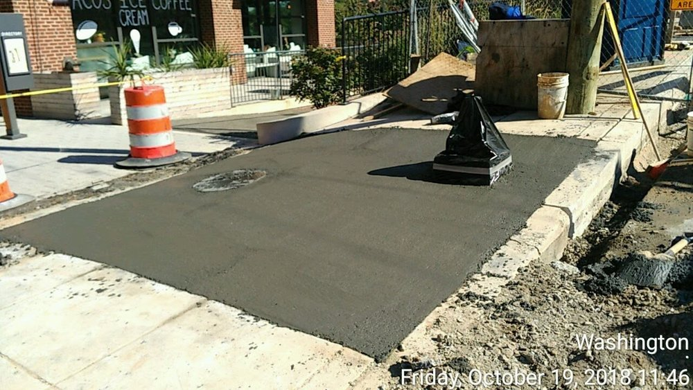 Sidewalk Installation (North Side of 8th)
