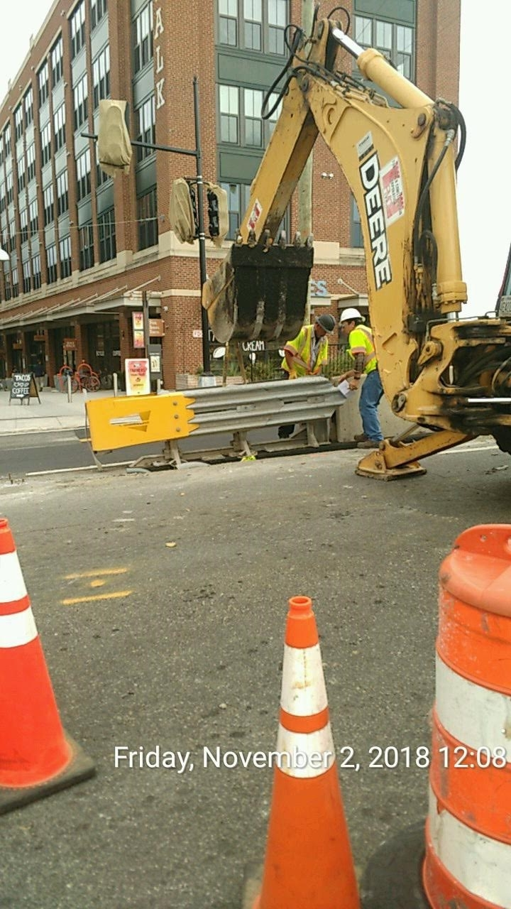 Attenuator Relocation at 8th & Monroe Street Intersection