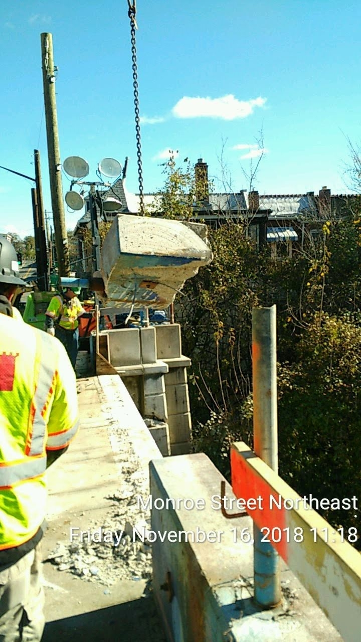 Parapet Wall Removal over CSX Tracks , Phase 2