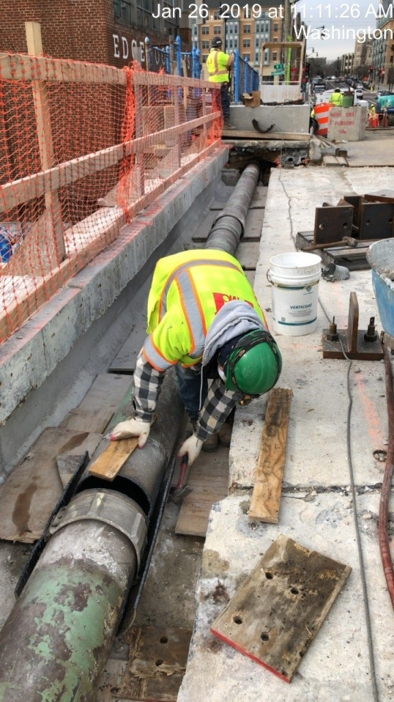 """WGL Ongoing Work - 4"""" Bypass Installation and 12"""" Main Removal (South Side)"""