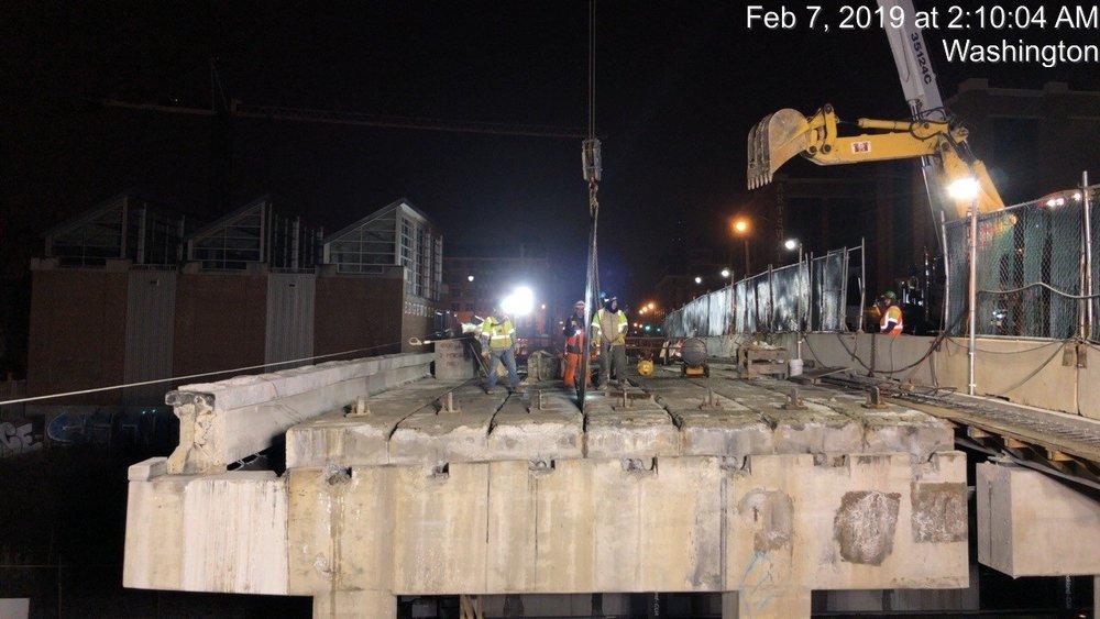 Demolition Prep Work, (South Side, Span 2)
