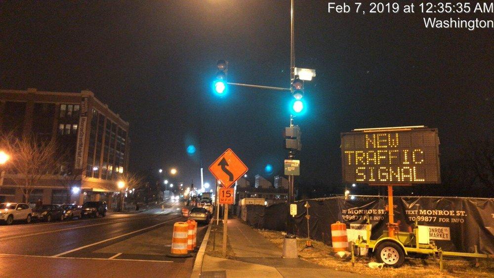 Monroe Street Bridge & 7th Street (Looking East)