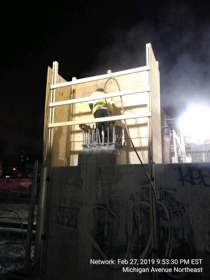 Pier Column 2 Demolition & Form Work (South Side)