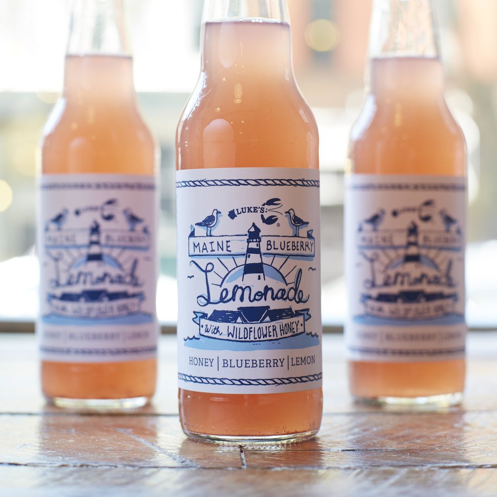 Label Design for  Luke's Lobster's  Blueberry Lemonade