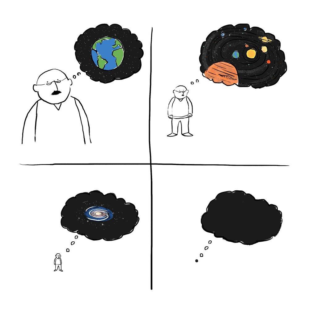 """Thinking big feeling small"""