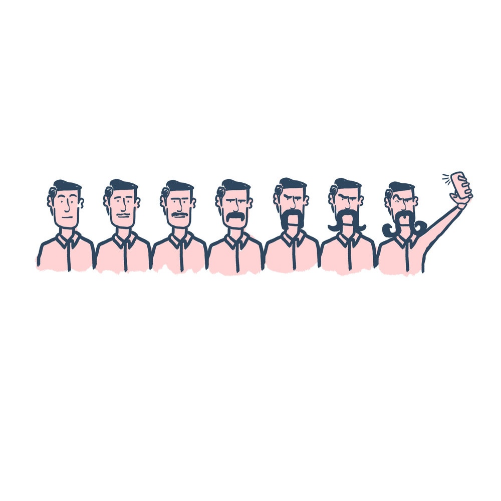 Movember Illustration for Luke's Lobster