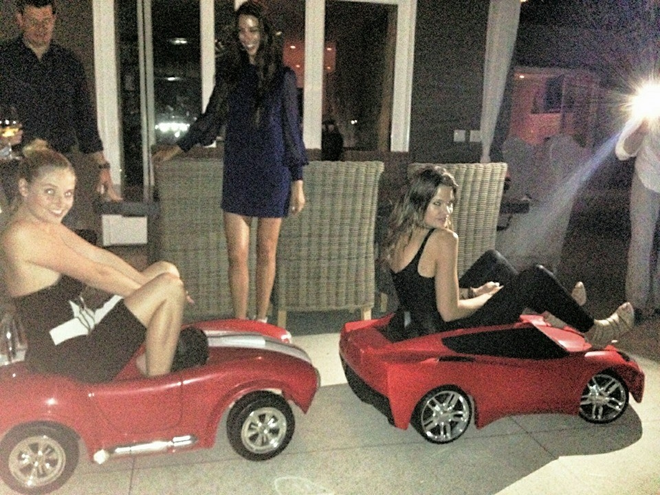 Here me and Dominiquewere in 2014 having fun racing around in these toy cars.
