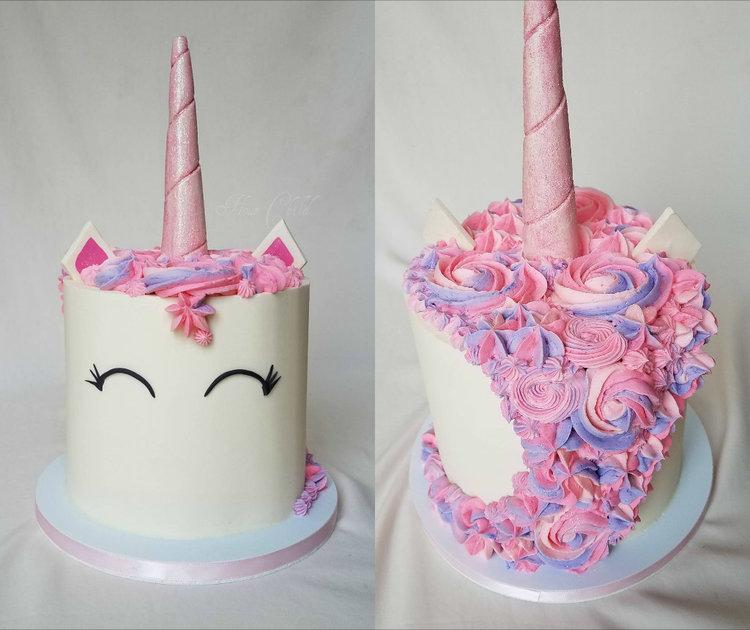 Pink And Purple Unicorn Cake