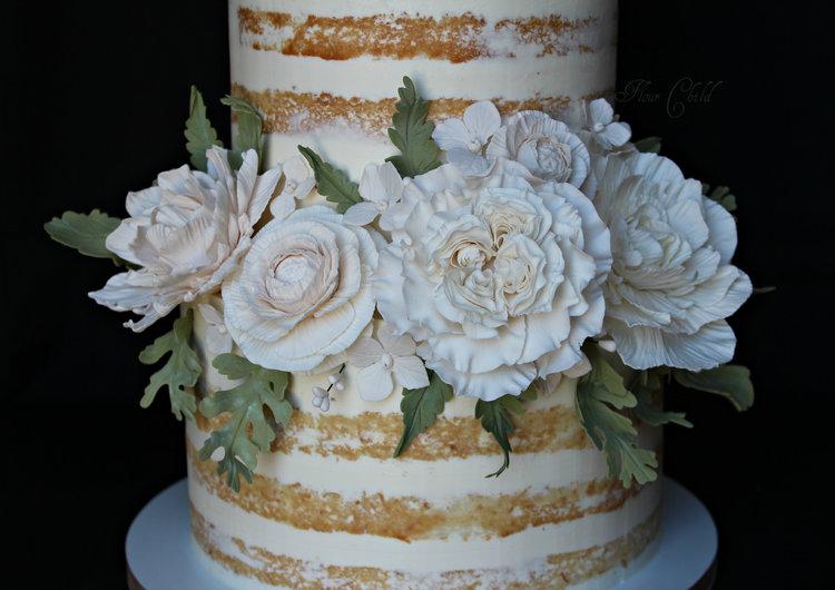 Boise wedding cakes white sugar flowers g mightylinksfo