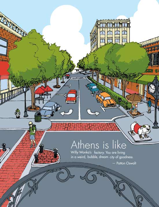 Illustration for  Athens Magazine