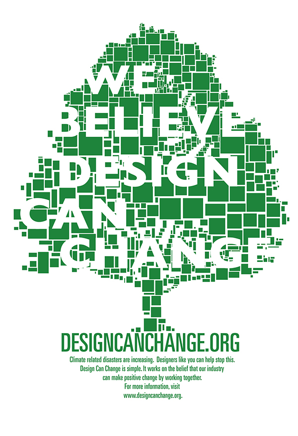 Promotional poster for designcanchange.org