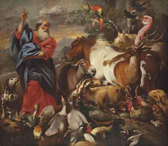 God Creating the Animals Giovanni Francesco Castiglione