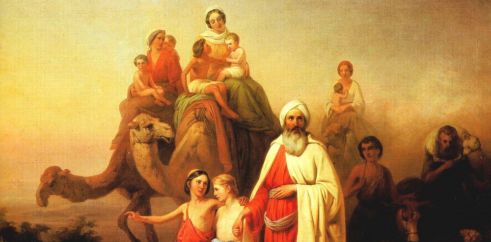 Abram Journeying with His Family,  Joseph Molnar