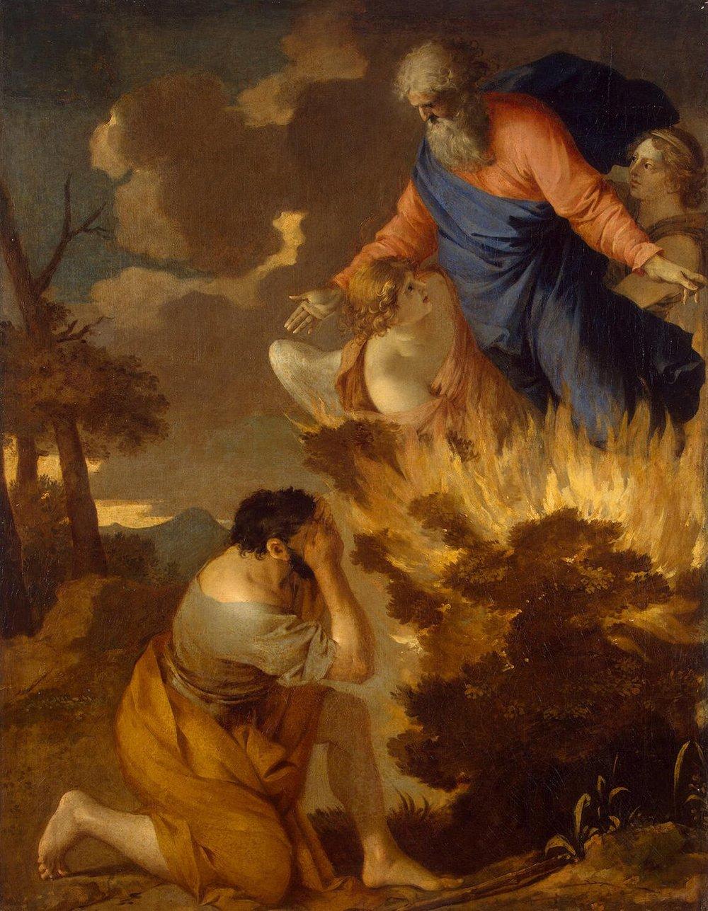 Moses and the Burning Bush, Sabastien Bourdon