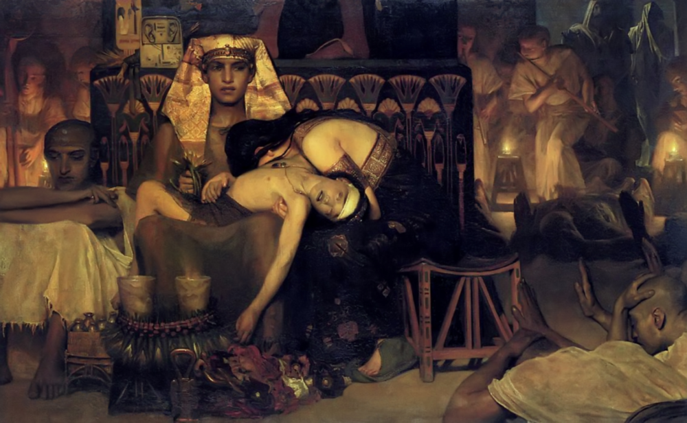 The Death of the Firstborn, Tadema