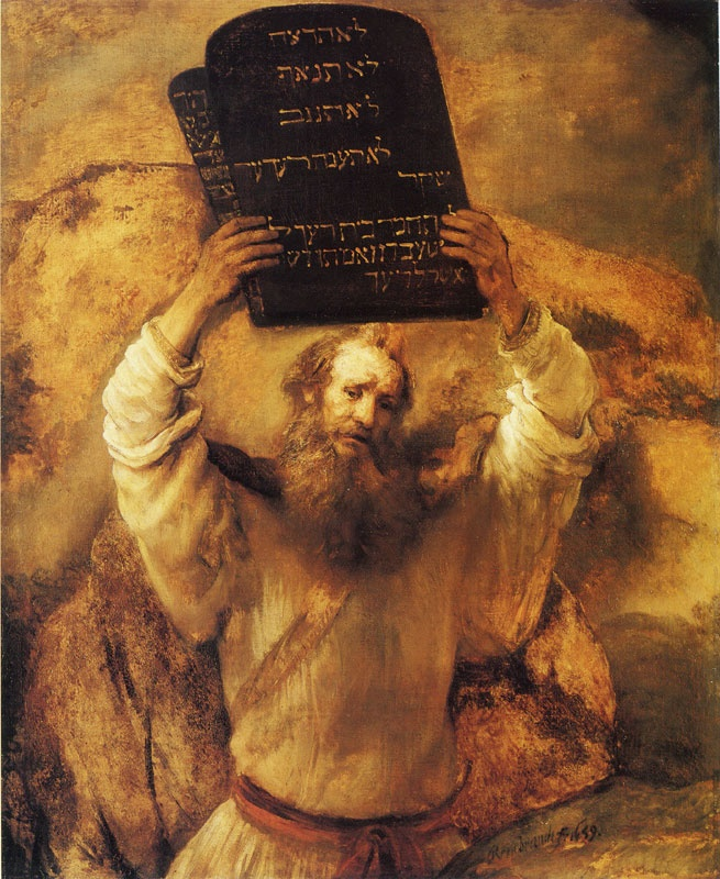Moses with the Ten Commandments , Rembrandt