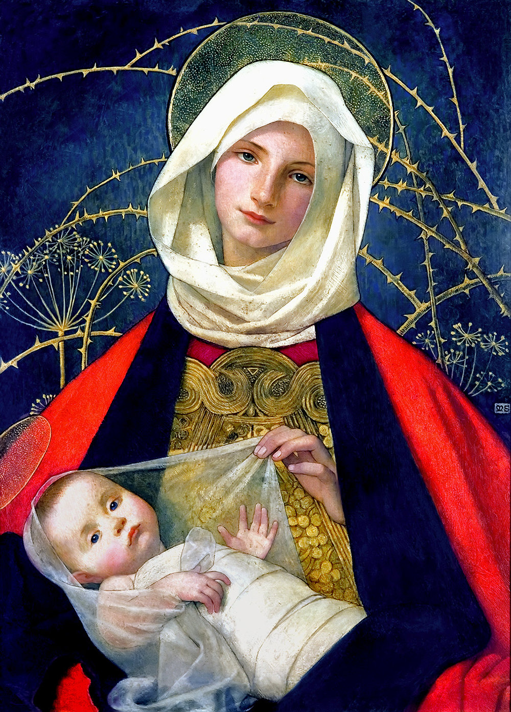 Madonna and Child,  Marianne Stokes
