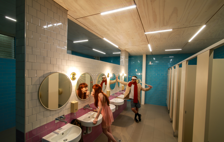 College girls bathroom - Girls Bathrooms Caroline Chisholm College