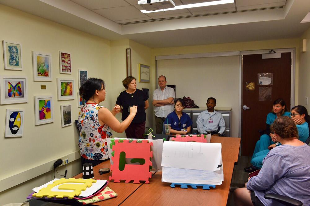 Feedback session at Mount Sinai Palliative Care Unit